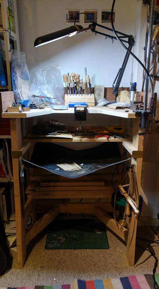 Work bench made using wood from Bristol Wood Recycling Project and wood I was given.